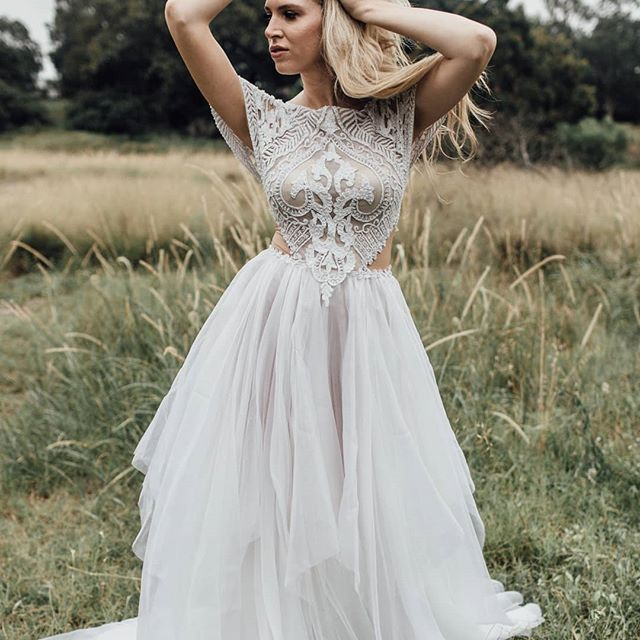 Our Maria gown is available to try on in our Alexandria studio.  Enquire at www.ivonncouture.com . . Photographer @sonja.cenic.photographer Model @nicole_rossetto . . .  #ivonncouture #whimsicalwedding #femininebride #florals #couture #bridetobe #engaged #instawedding #weddedwonderland #gettingmarried #beading #couture #corset #madeinaustralia #sydneydesigner