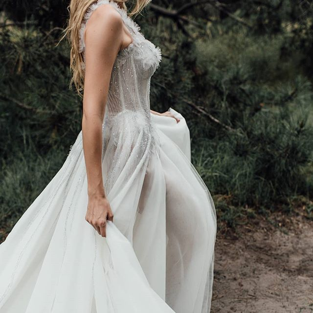 Our romantic Florentine gown available to try on in our Alexandria studio,  Enquire at www.ivonncouture.com.  Photographer @sonja.cenic.photographer