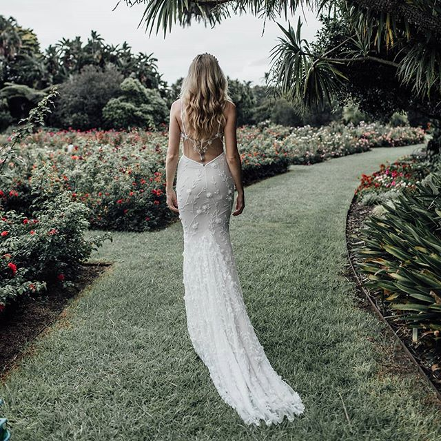 Our Flora gown covered top to bottom with floral embellishments,  available to try on in our Alexandria studio.  Enquire at www.ivonncouture.com. . . #ivonncouture #whimsicalwedding #femininebride #florals #couture #bridetobe #engaged #instawedding #weddedwonderland #gettingmarried #beading #couture #corset #madeinaustralia #sydneydesigner