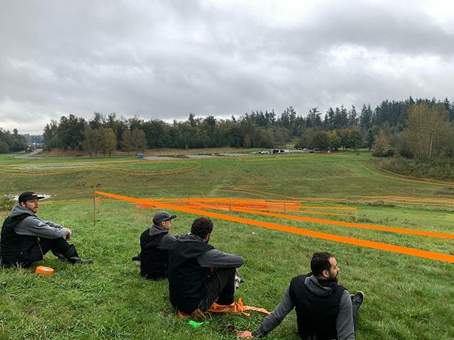 The Course Masters were out in force yesterday. Looking forward to a new layout melding our favourite parts of #aldergrovecx. See you out here! #cyclocross #vcxc #lmcx2019 #kazlawcup