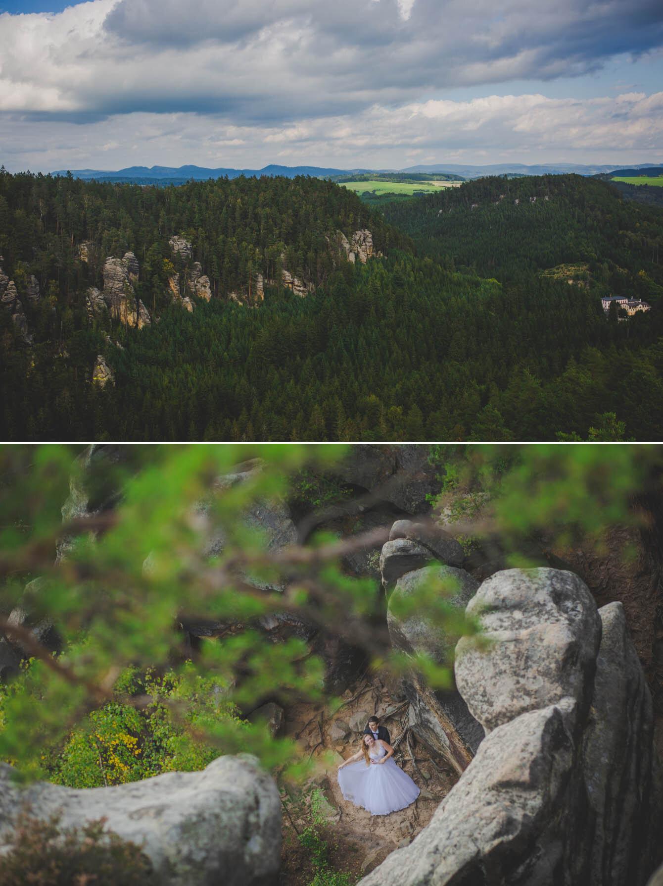 plener ślubny w skalnym miescie w czechach fotografie Bartek Wyrobek  3.jpg
