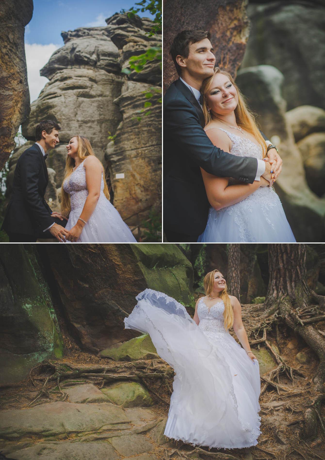 plener ślubny w skalnym miescie w czechach fotografie Bartek Wyrobek  4.jpg