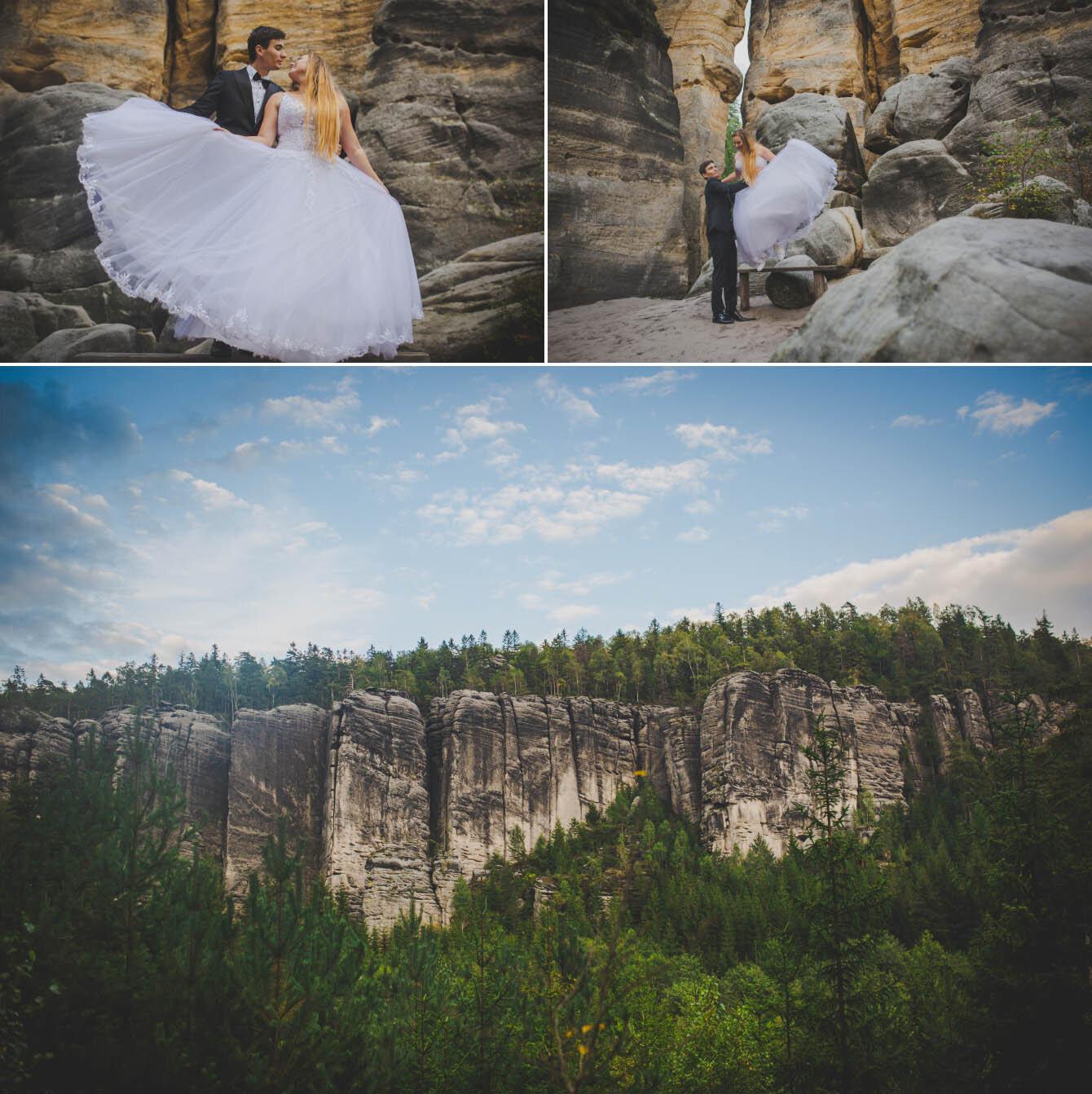 plener ślubny w skalnym miescie w czechach fotografie Bartek Wyrobek  10.jpg