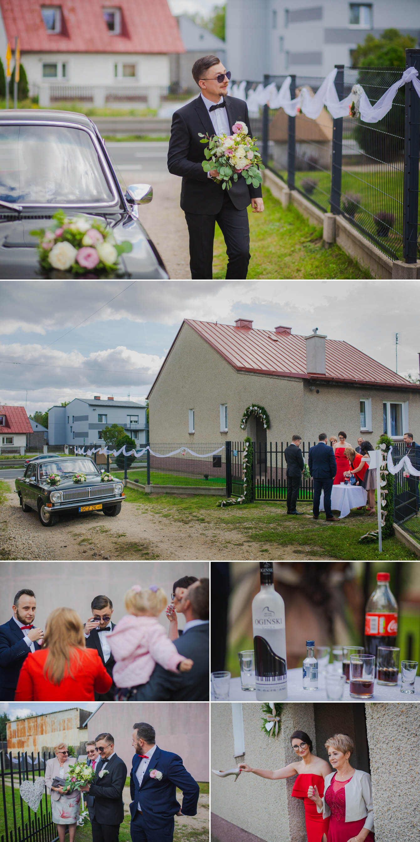 Fotografie ślubne Marka i Angeliki w domu weselnym pod Grzybkiem fotograf Bartek Wyrobek  6.jpg