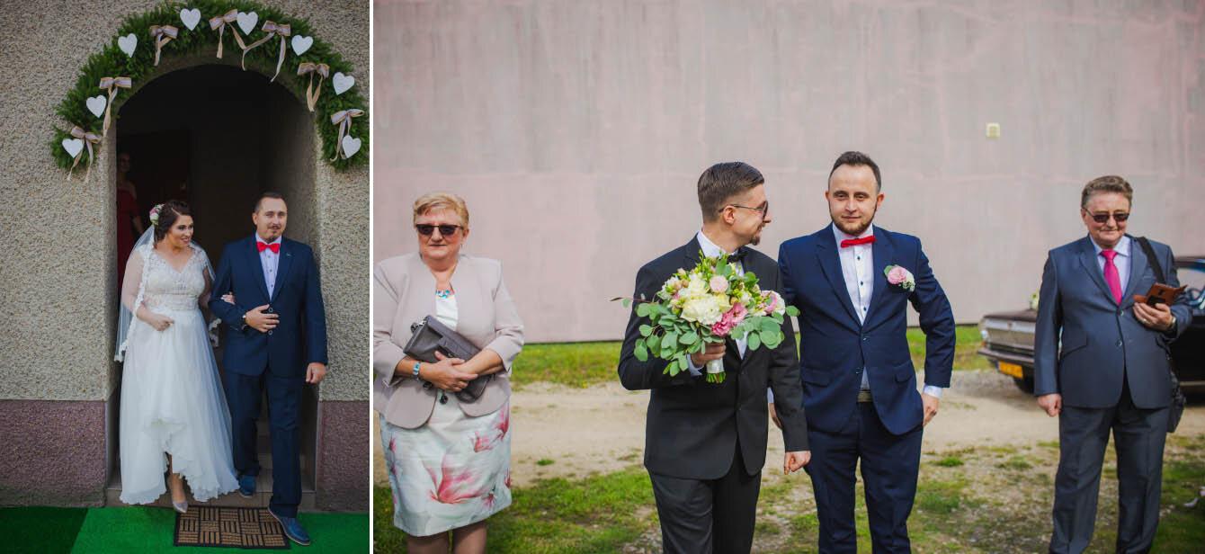 Fotografie ślubne Marka i Angeliki w domu weselnym pod Grzybkiem fotograf Bartek Wyrobek  7.jpg