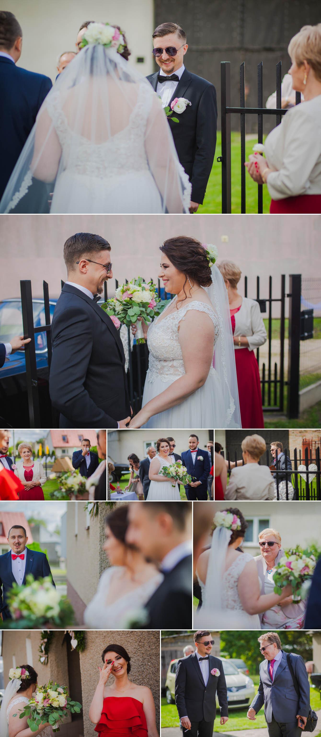Fotografie ślubne Marka i Angeliki w domu weselnym pod Grzybkiem fotograf Bartek Wyrobek  8.jpg