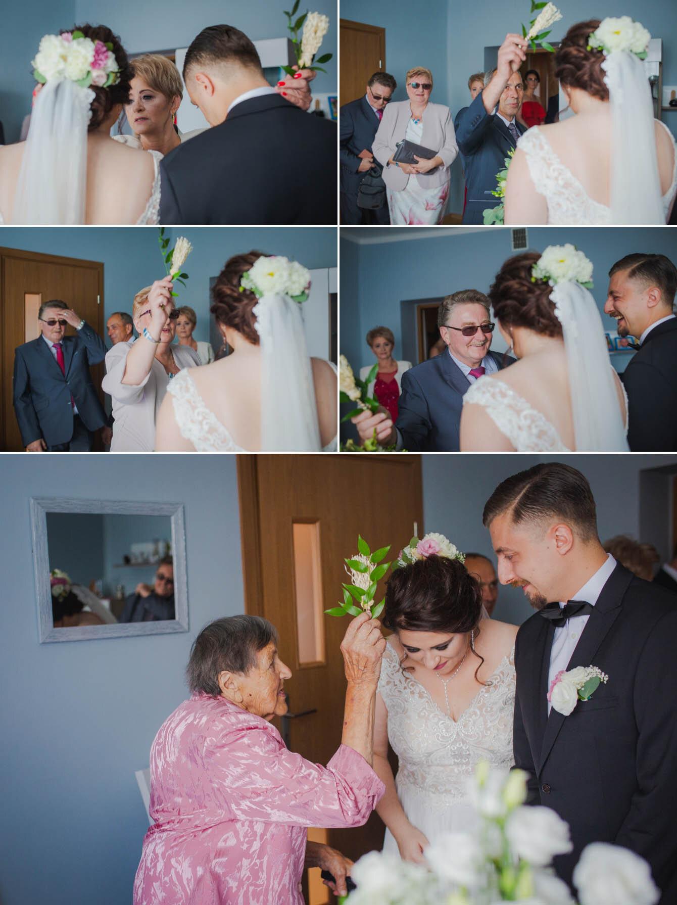Fotografie ślubne Marka i Angeliki w domu weselnym pod Grzybkiem fotograf Bartek Wyrobek  9.jpg