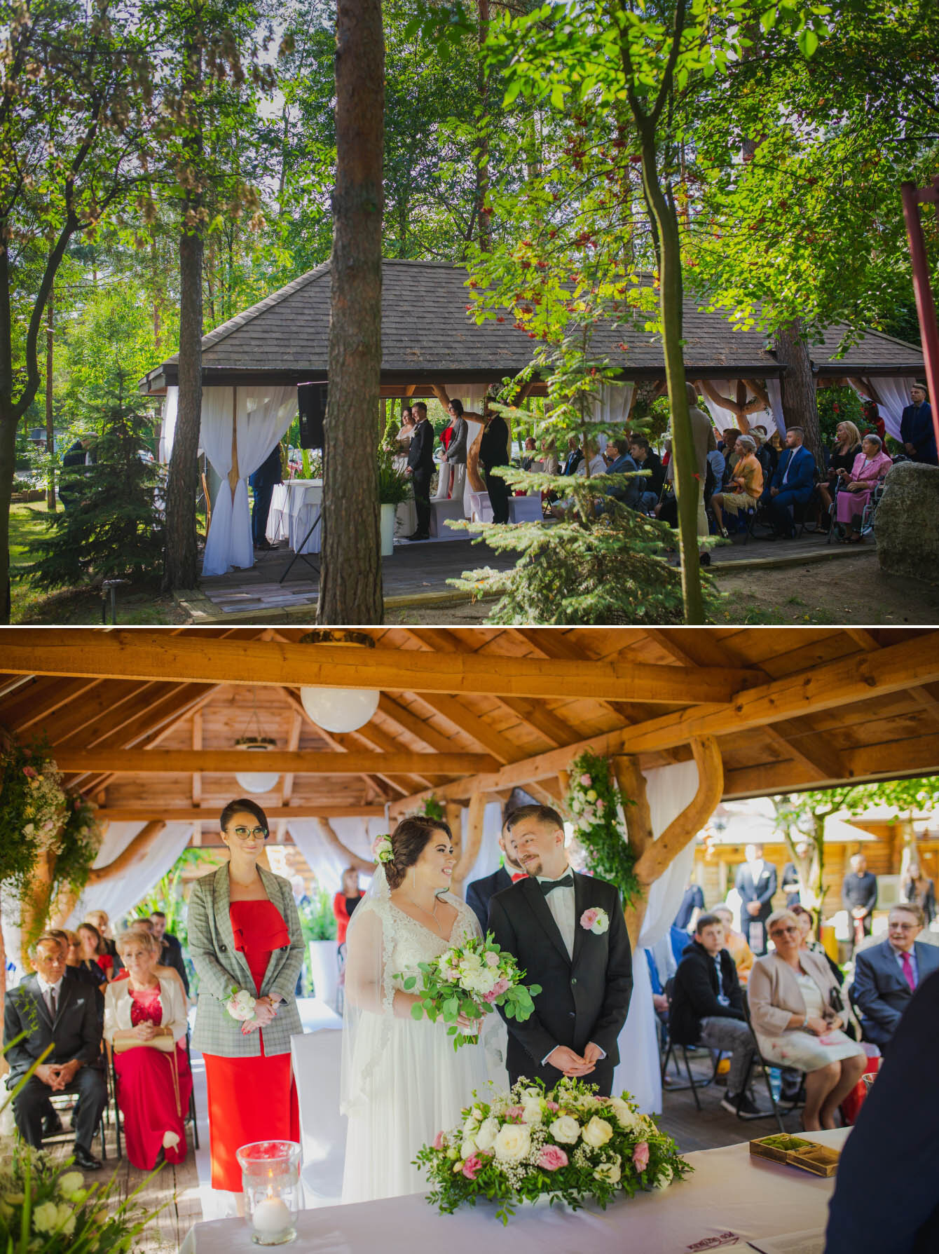 Fotografie ślubne Marka i Angeliki w domu weselnym pod Grzybkiem fotograf Bartek Wyrobek  17.jpg
