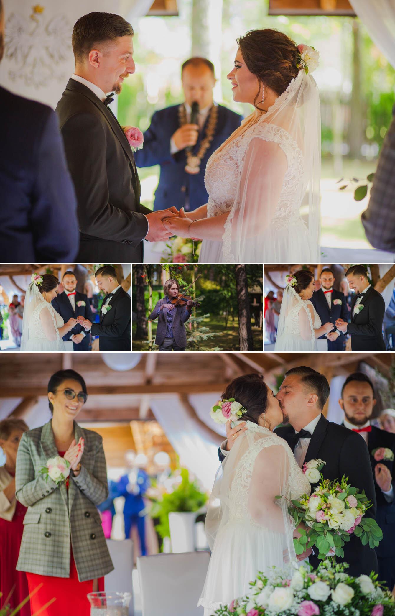 Fotografie ślubne Marka i Angeliki w domu weselnym pod Grzybkiem fotograf Bartek Wyrobek  18.jpg