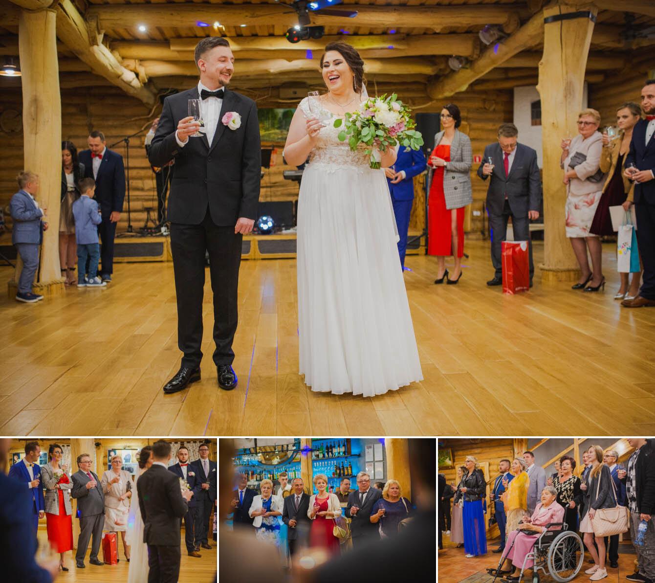 Fotografie ślubne Marka i Angeliki w domu weselnym pod Grzybkiem fotograf Bartek Wyrobek  21.jpg