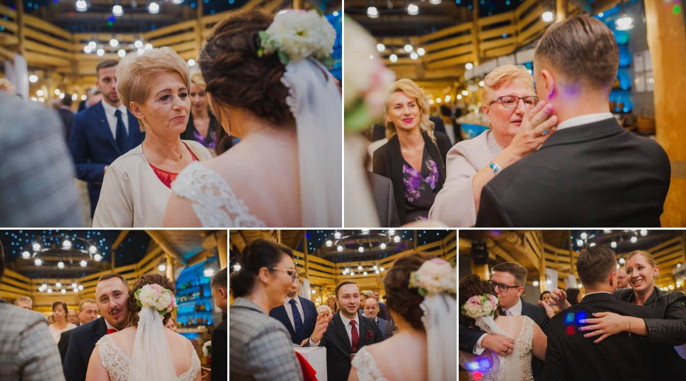 Fotografie ślubne Marka i Angeliki w domu weselnym pod Grzybkiem fotograf Bartek Wyrobek  22.jpg
