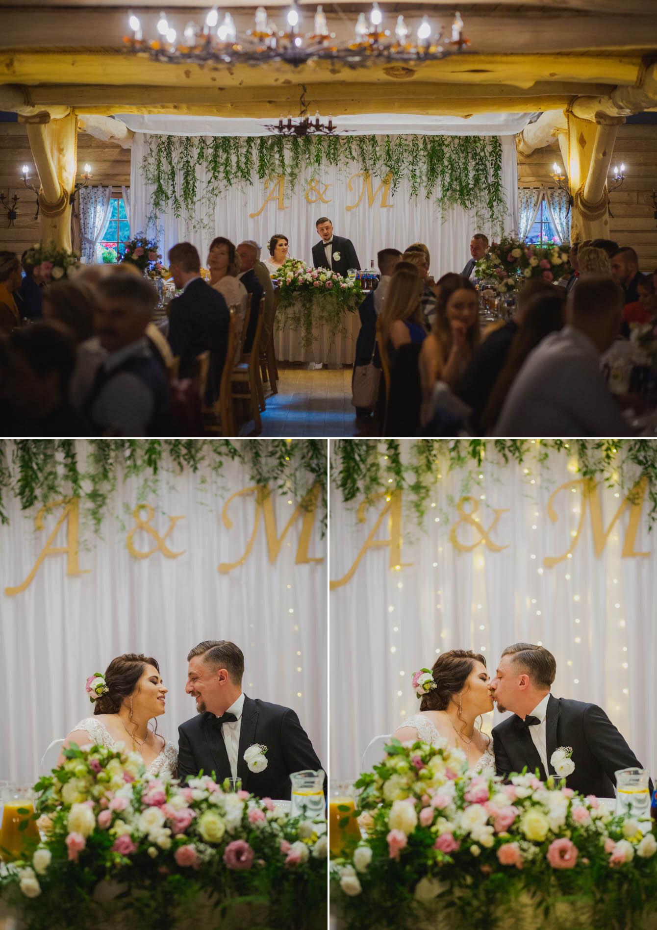 Fotografie ślubne Marka i Angeliki w domu weselnym pod Grzybkiem fotograf Bartek Wyrobek  23.jpg