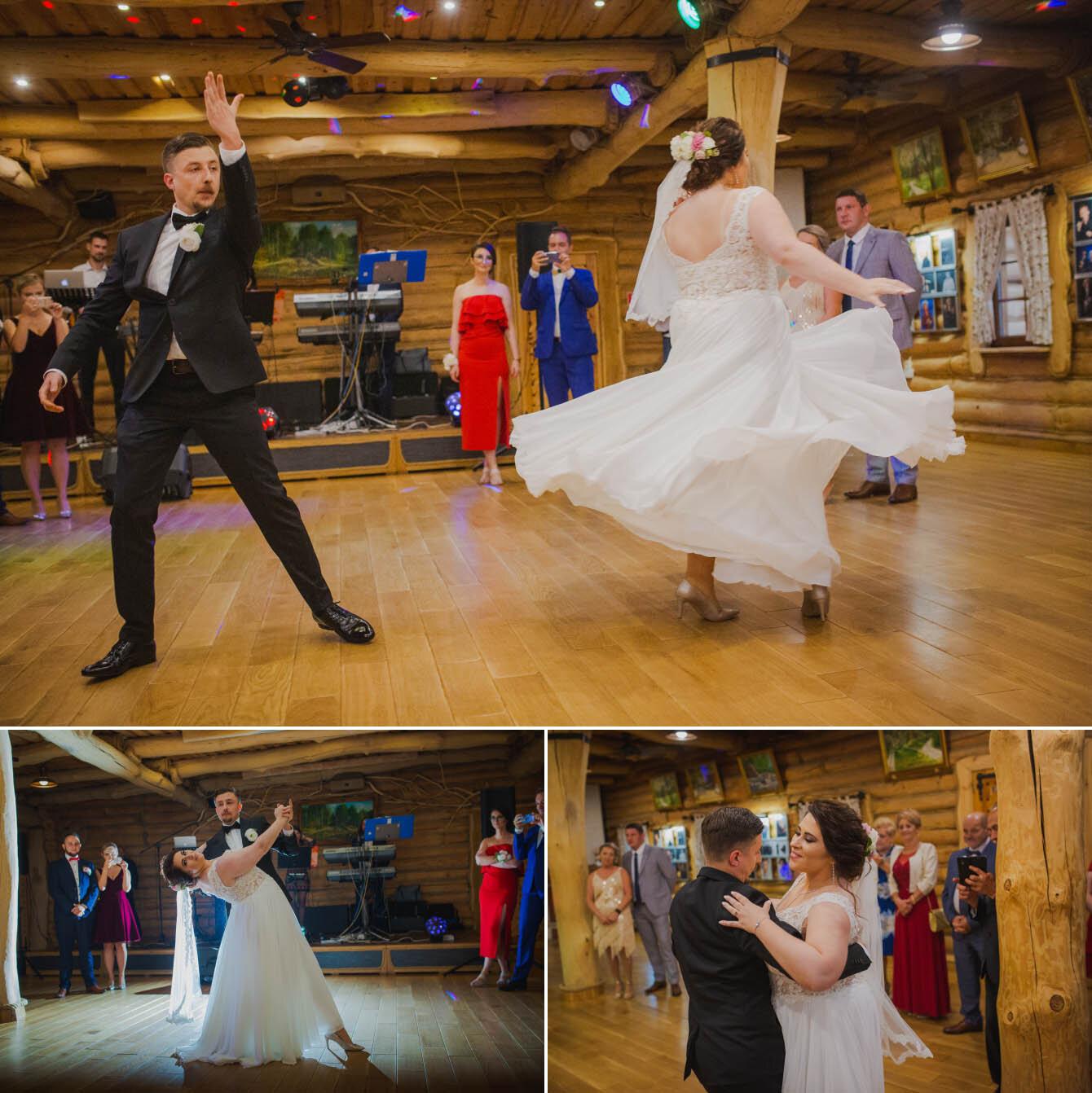 Fotografie ślubne Marka i Angeliki w domu weselnym pod Grzybkiem fotograf Bartek Wyrobek  24.jpg