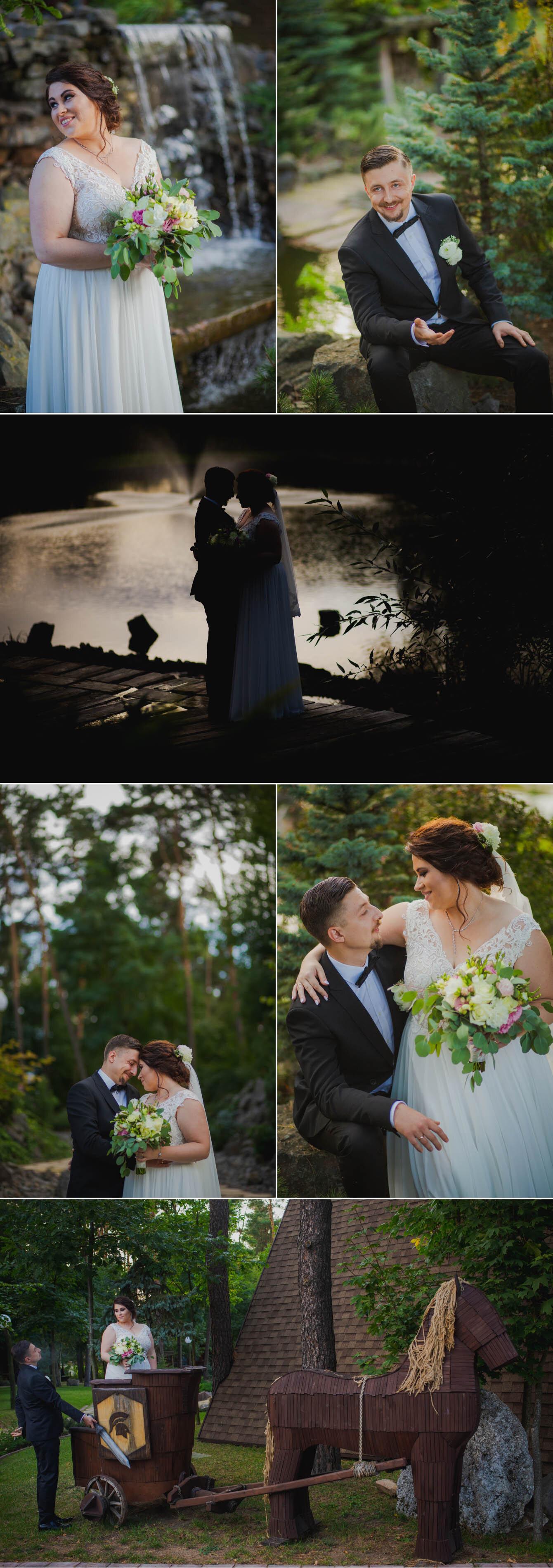 Fotografie ślubne Marka i Angeliki w domu weselnym pod Grzybkiem fotograf Bartek Wyrobek  28.jpg