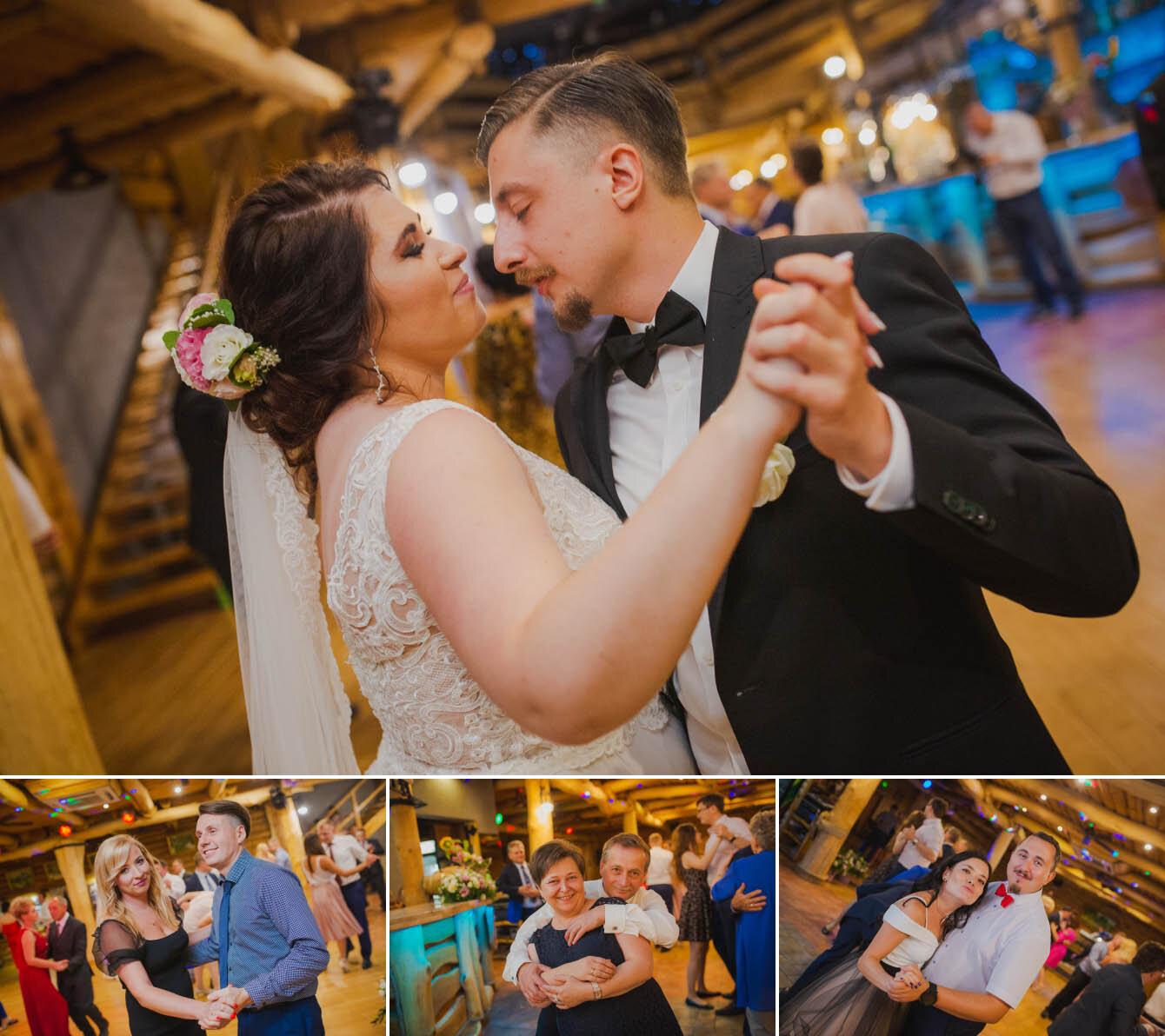 Fotografie ślubne Marka i Angeliki w domu weselnym pod Grzybkiem fotograf Bartek Wyrobek  34.jpg