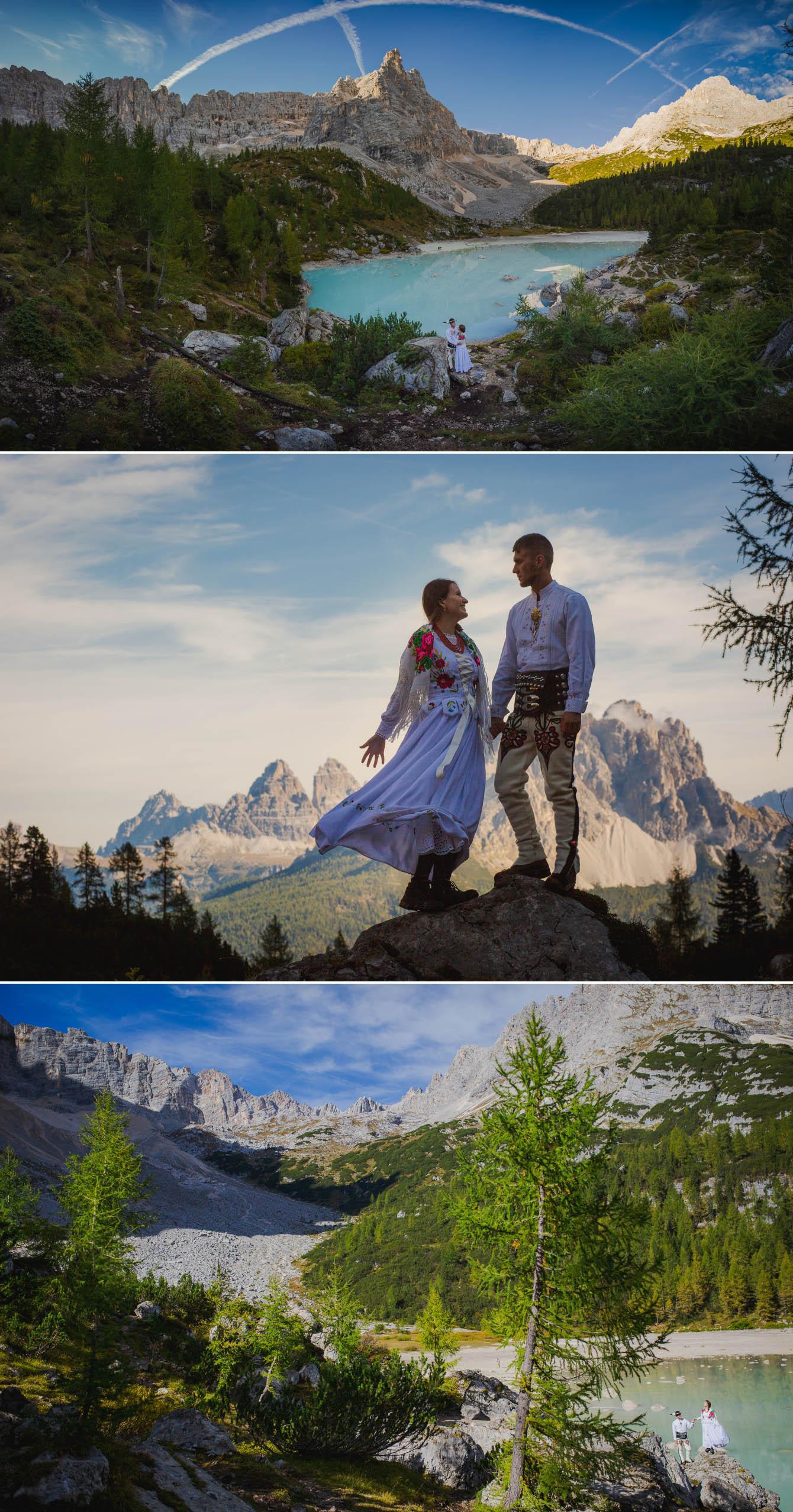 Zdjęcia ślubne Dolomity Cortina d'Ampezzo Łukasz i Kinga fotografie Bartek Wyrobek  9.jpg
