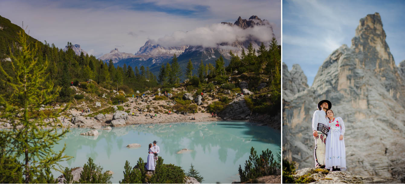 Zdjęcia ślubne Dolomity Cortina d'Ampezzo Łukasz i Kinga fotografie Bartek Wyrobek  10.jpg