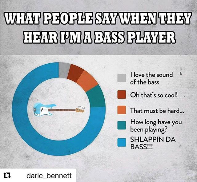 😂 Totally! #Repost @daric_bennett with @get_repost ・・・ Ugh! 🔵All the time😂 What are some more things you guys hear❓😎#Repost @bassplayermag