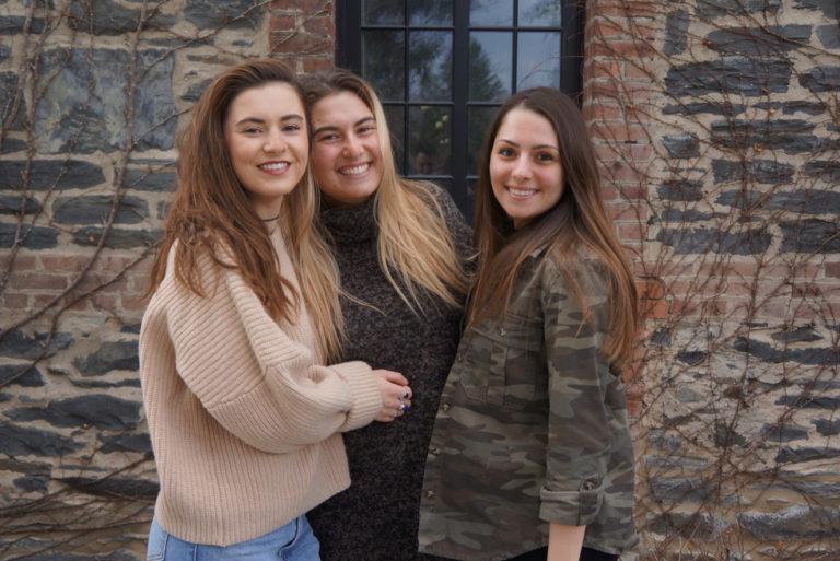 Left to Right: Eliza Patterson '18, Tara Guaimano '20, and Gabriella Gamba, '17.