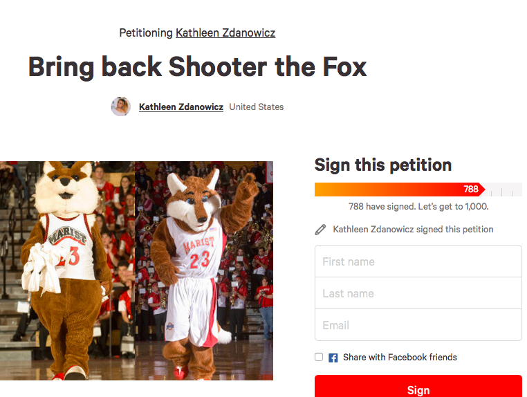 An online  petition  was formed by senior Kathleen Zdankowicz on Nov. 14, expressing concern with the name change.