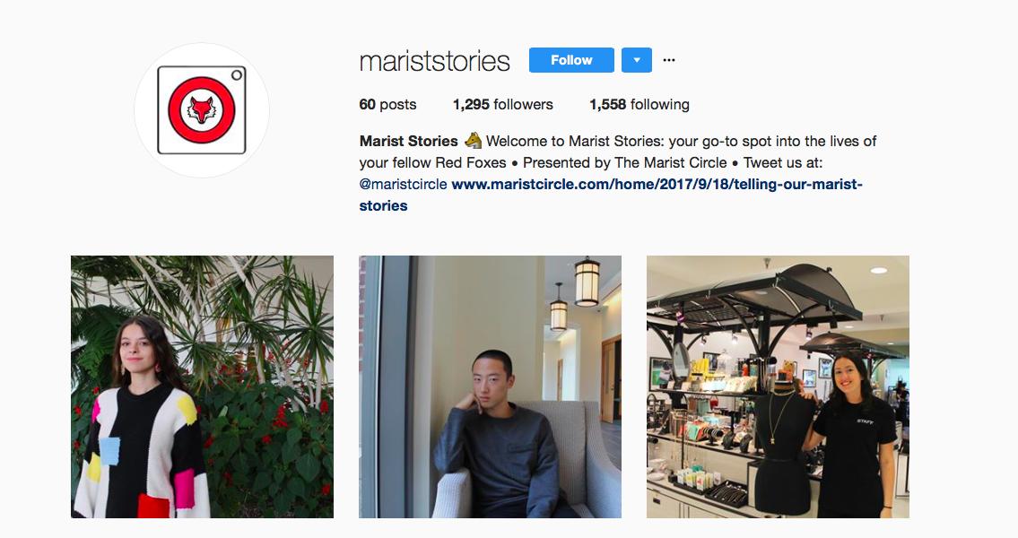 Follow us. - @MaristStories