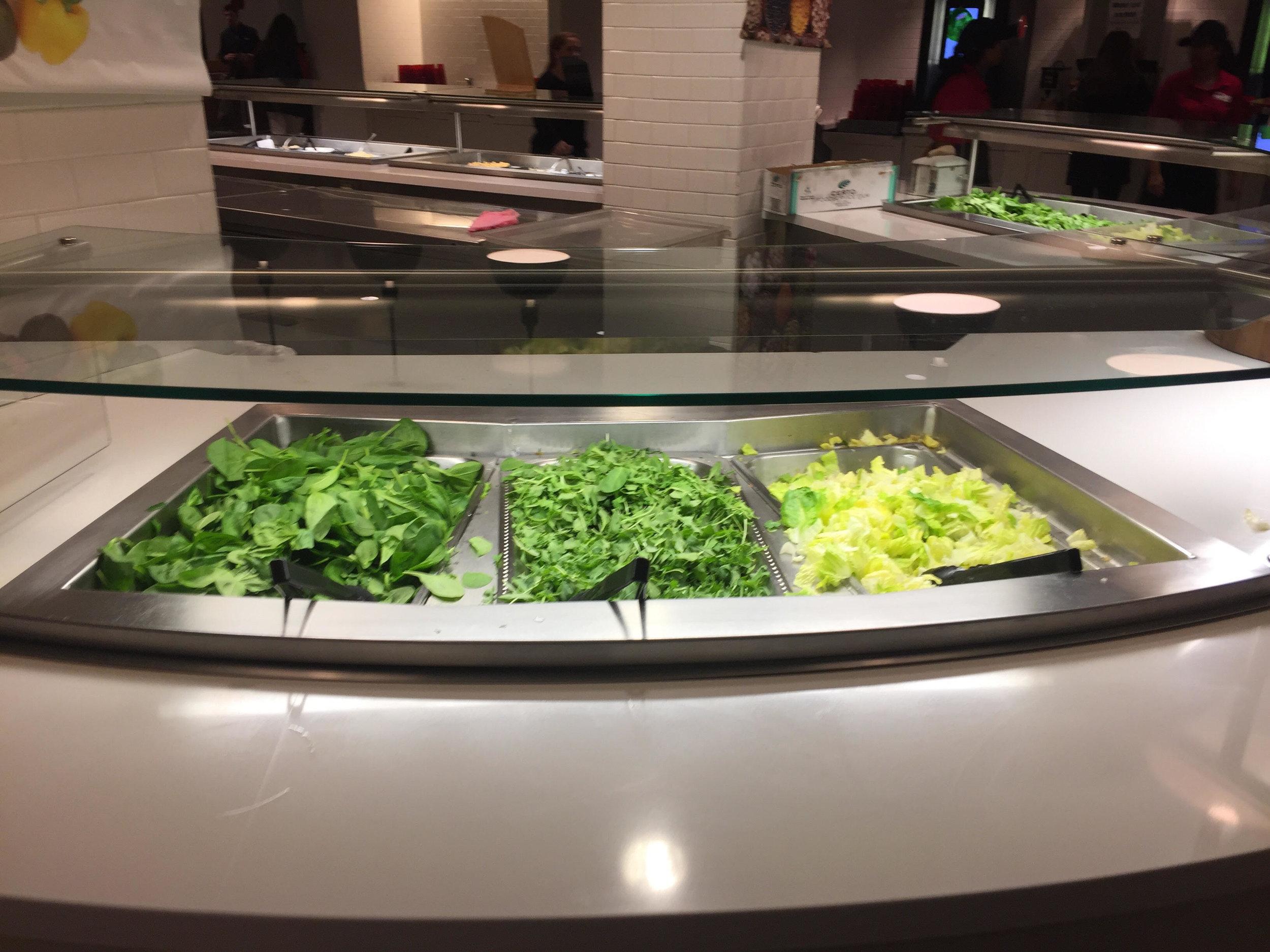 The Marist salad bar.