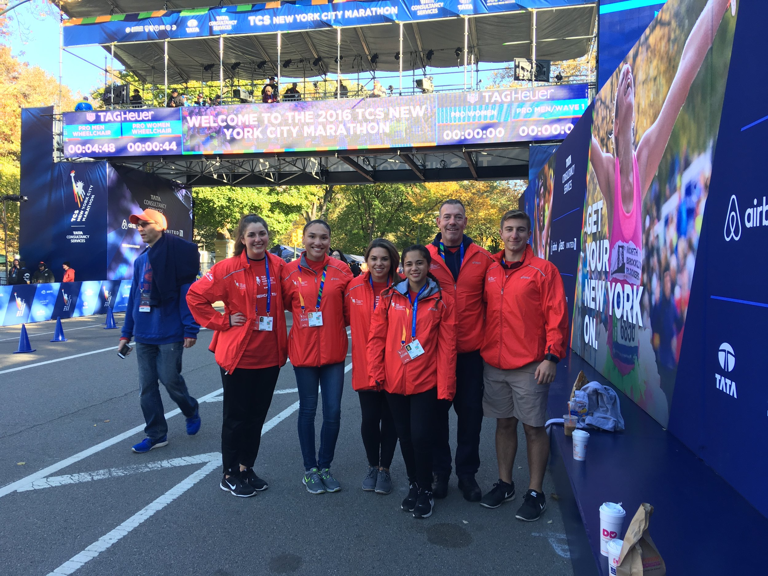 AT students at New York City Marathon. (Photo Courtesy of Marist Athletic Training Department).