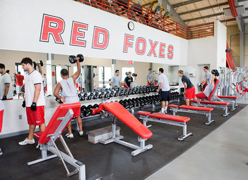 Current McCann Center weight room. (Photo courtesy of  Marist Strength )