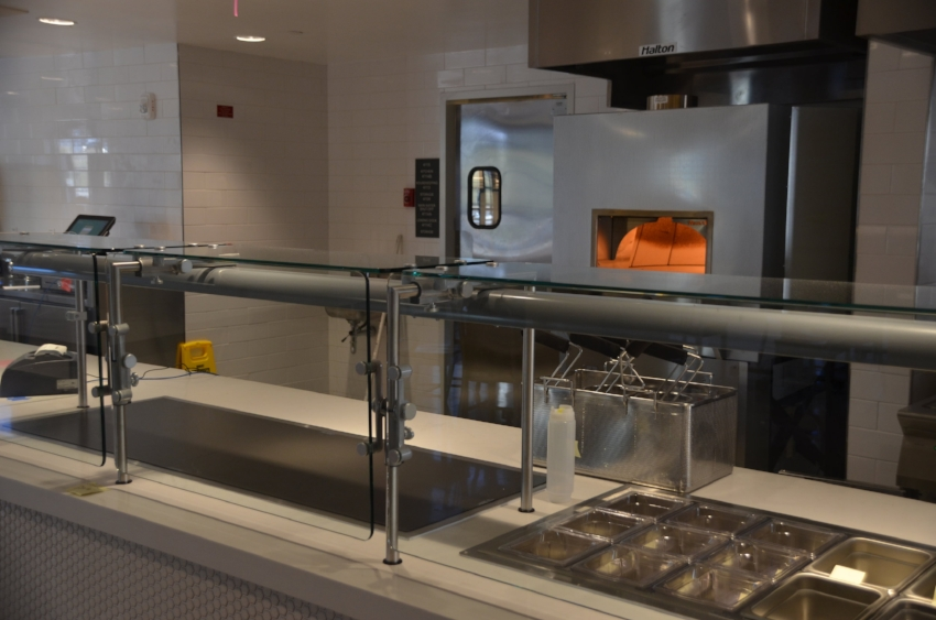 The flatbread pizza station at The North End before its grand opening