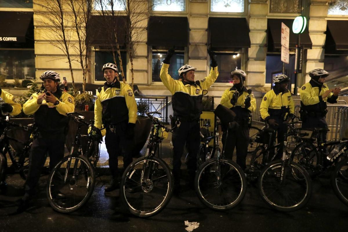 Police officers during riot in Philadelphia post-Super Bowl win. Photo Source: nydailynews.com