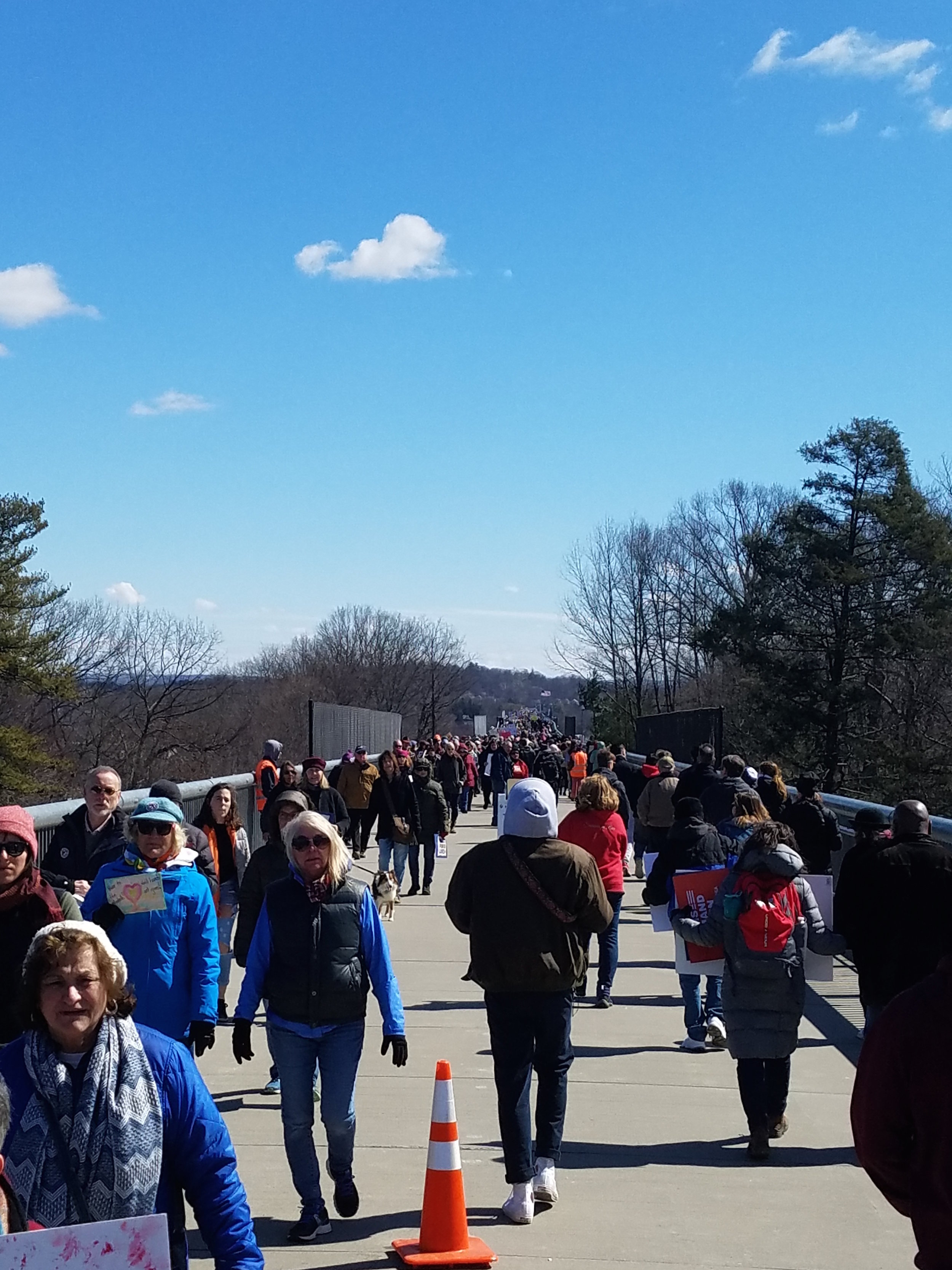 Hundreds march across the Walkway over the Hudson to protest gun violence in America. Photo Courtesy of Tony Cabral