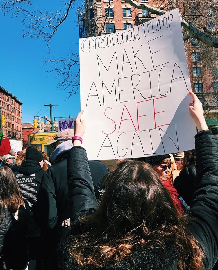 Tess Carcaldi attends March for Our Lives, NYC. Photo Courtesy of Tess Carcaldi.