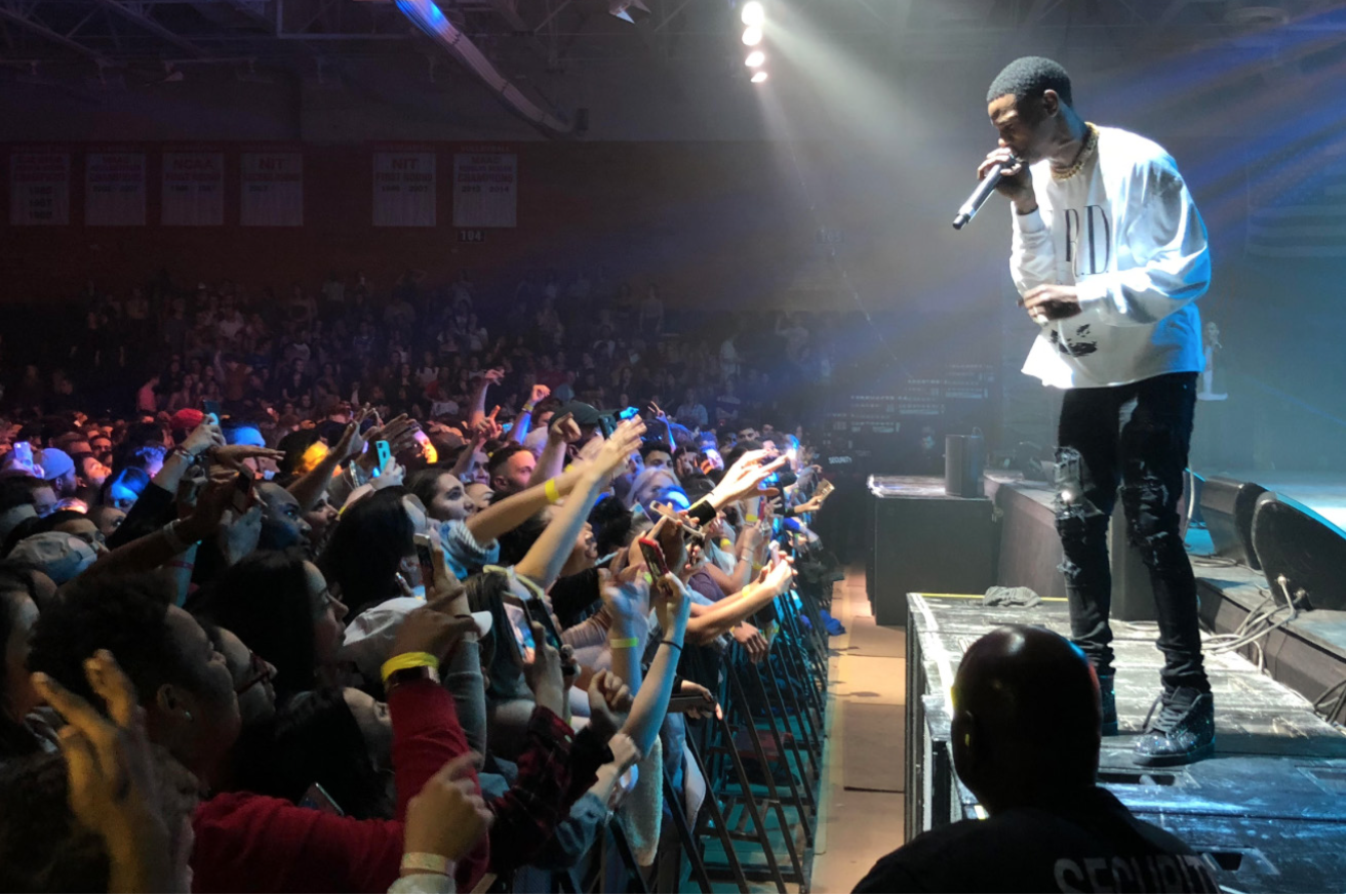 A Boogie Wit Da Hoodie performs at the McCann arena last spring. Photo by Brian Edsall '17.