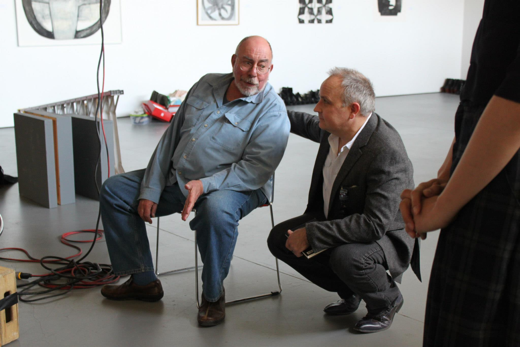 Richard Kramer (left) and Radley Cramer (right) at a photoshoot for the Fashion Look book