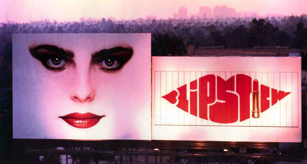 Los Angeles billboard for the movie Lipstick (1976) by Sandy Dvore.