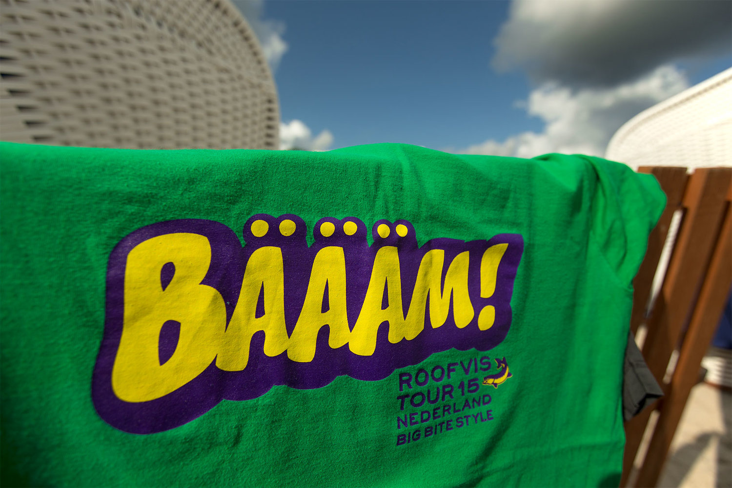 Bäääm!  T'Shirt in green. Sizes in M, L and XL. Sticker Sheet in A4 available too.