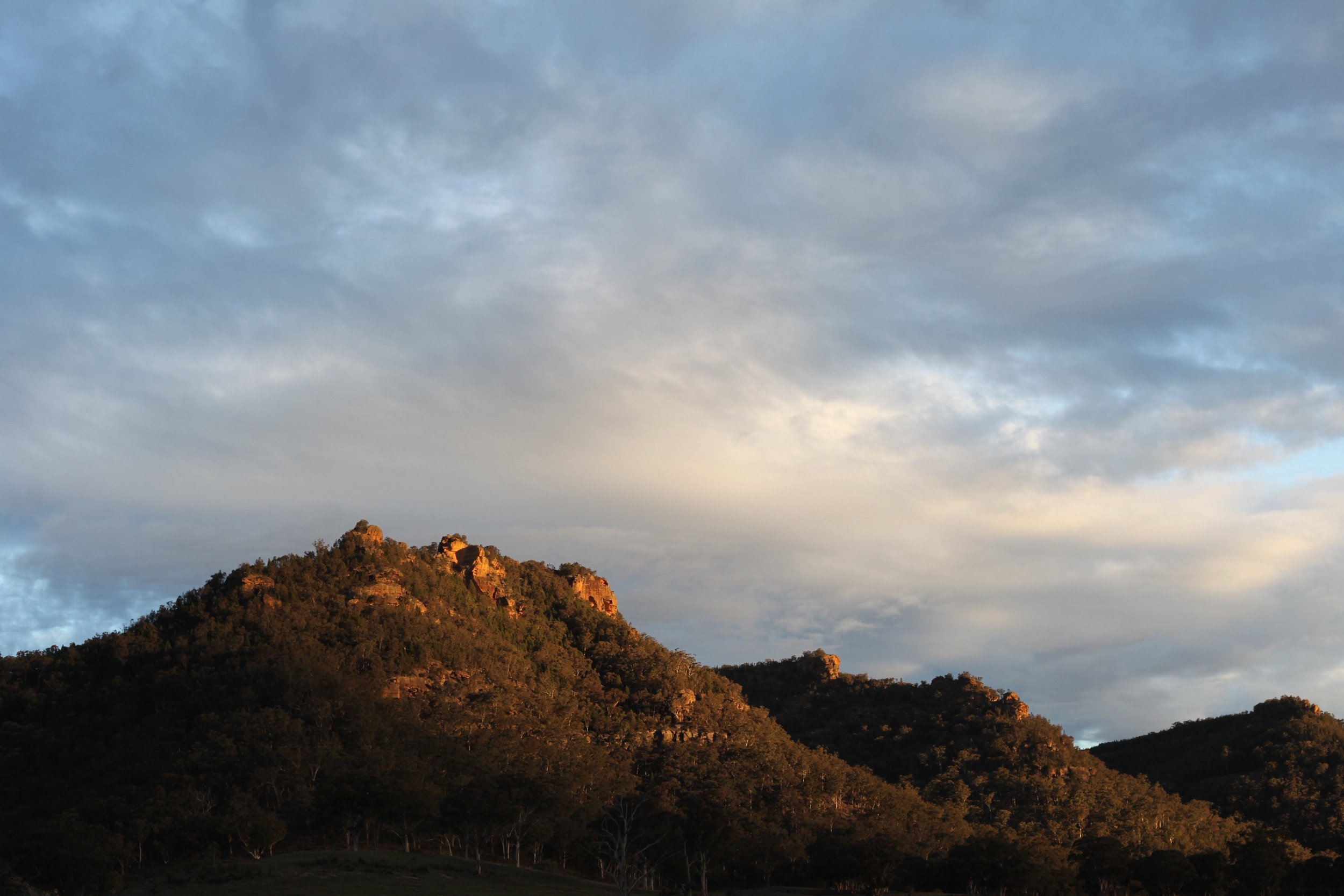 Last light in the Bylong valley.
