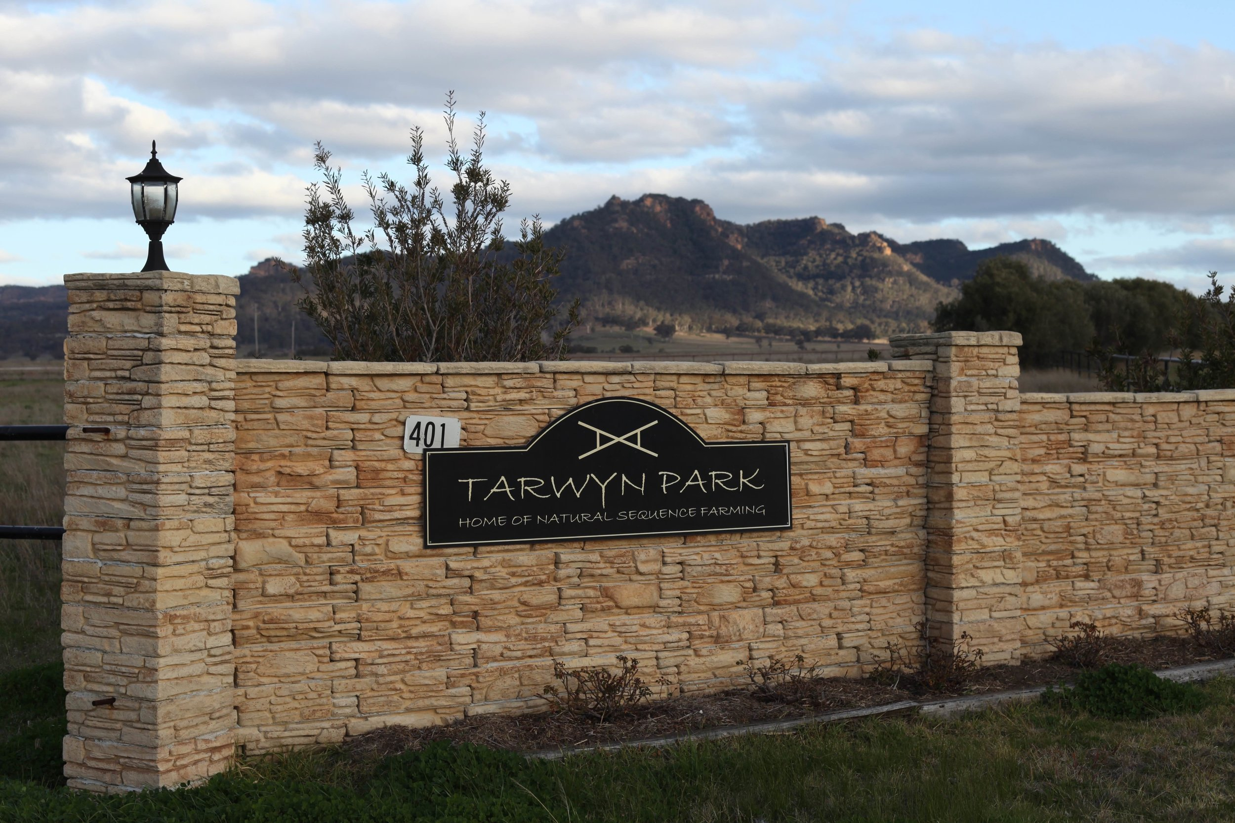 Tarwyn Park in Bylong, home of Peter Andrews' Natural Sequence Farming.