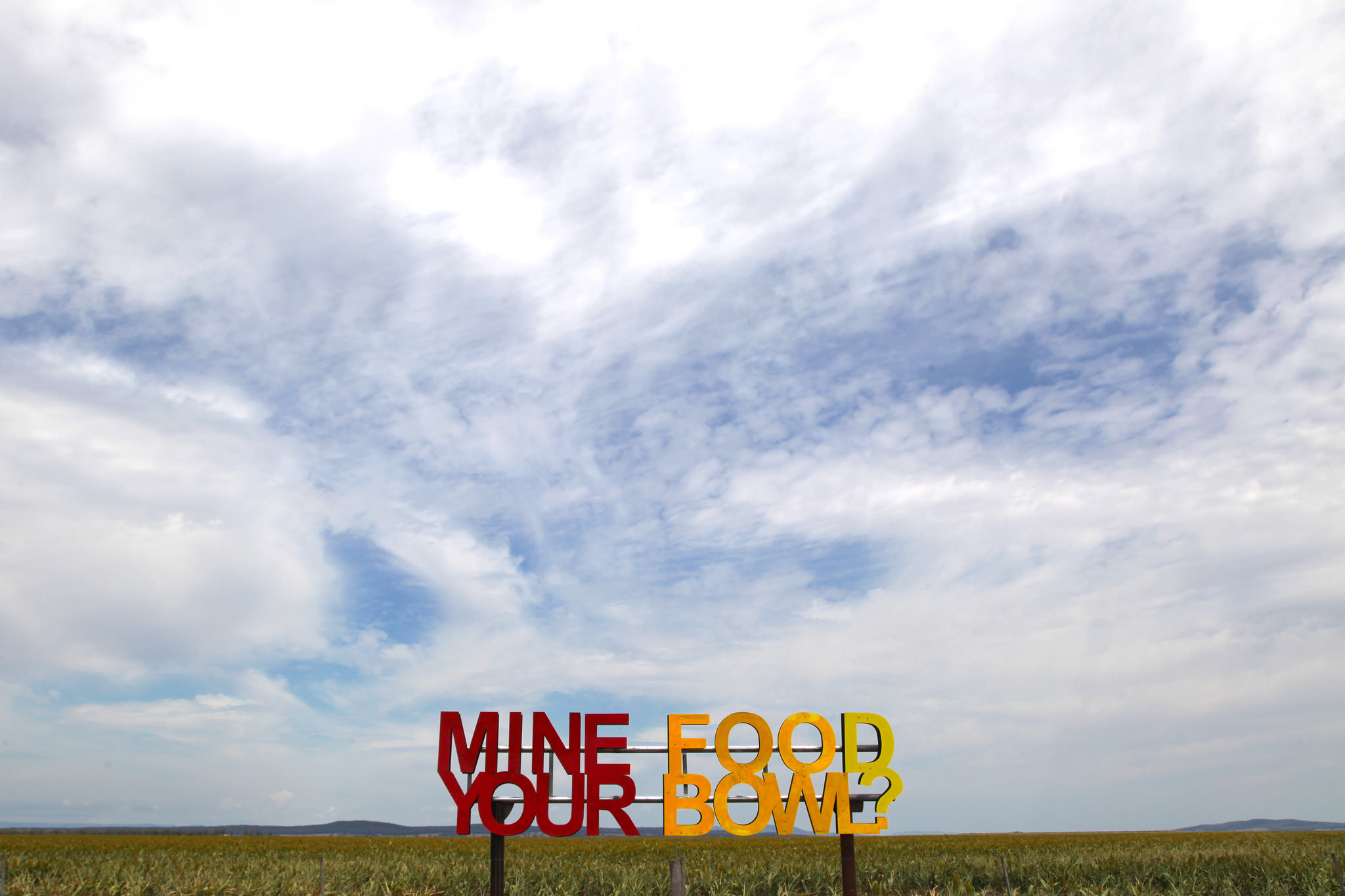 'Mine Your Food Bowl?' art installation at Breeza on the Liverpool Plains.