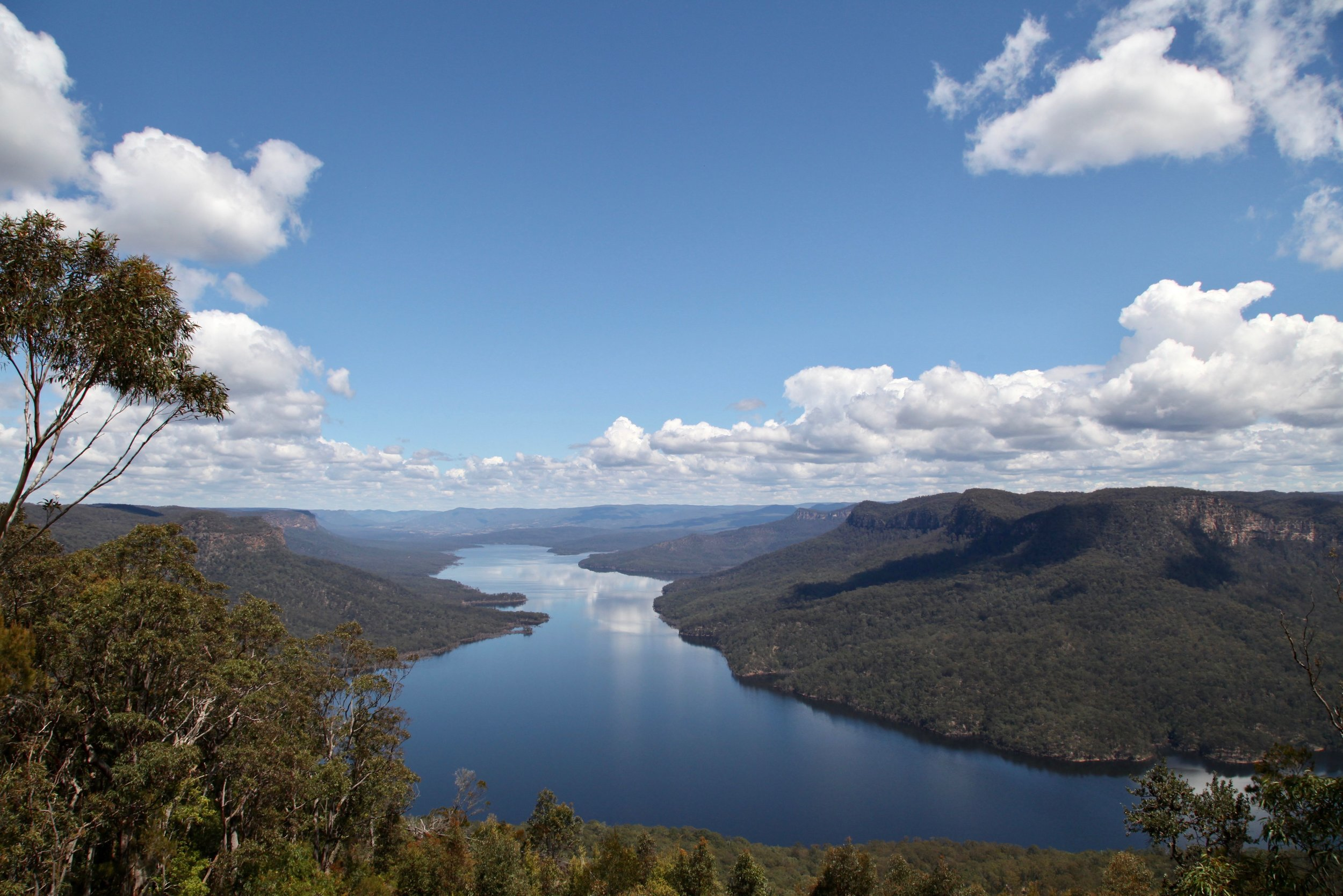 Lake Burragorang, a man-made reservoir and part of Sydney's water catchment.