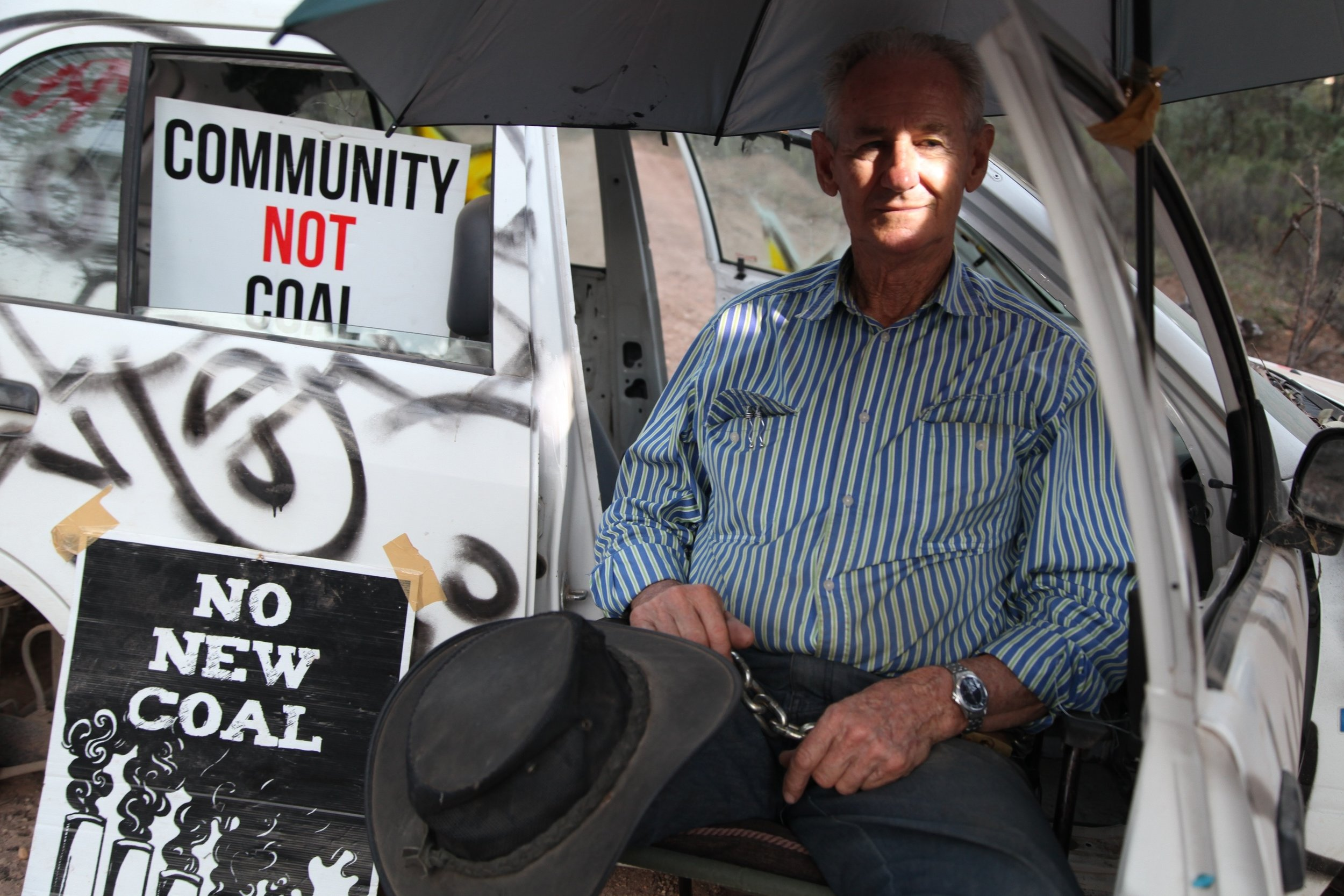 Like many who joined the campaign to protect Leard Forest, Raymond was not the type you might expect to see on the frontline of a blockade to stop a coal mine.