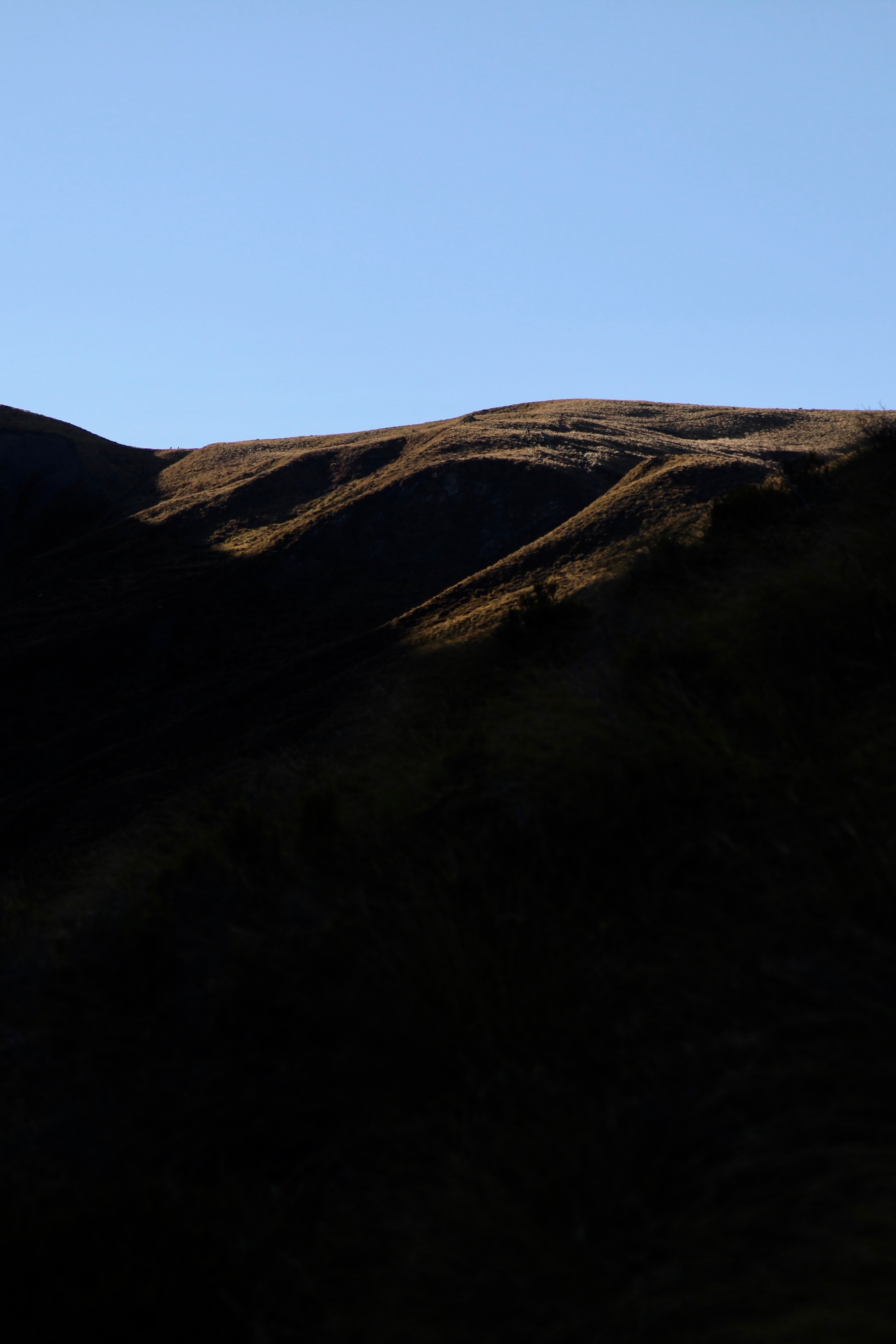 Afternoon shadows on the mountains in Queenstown, viewed from the Ben Lomond track.