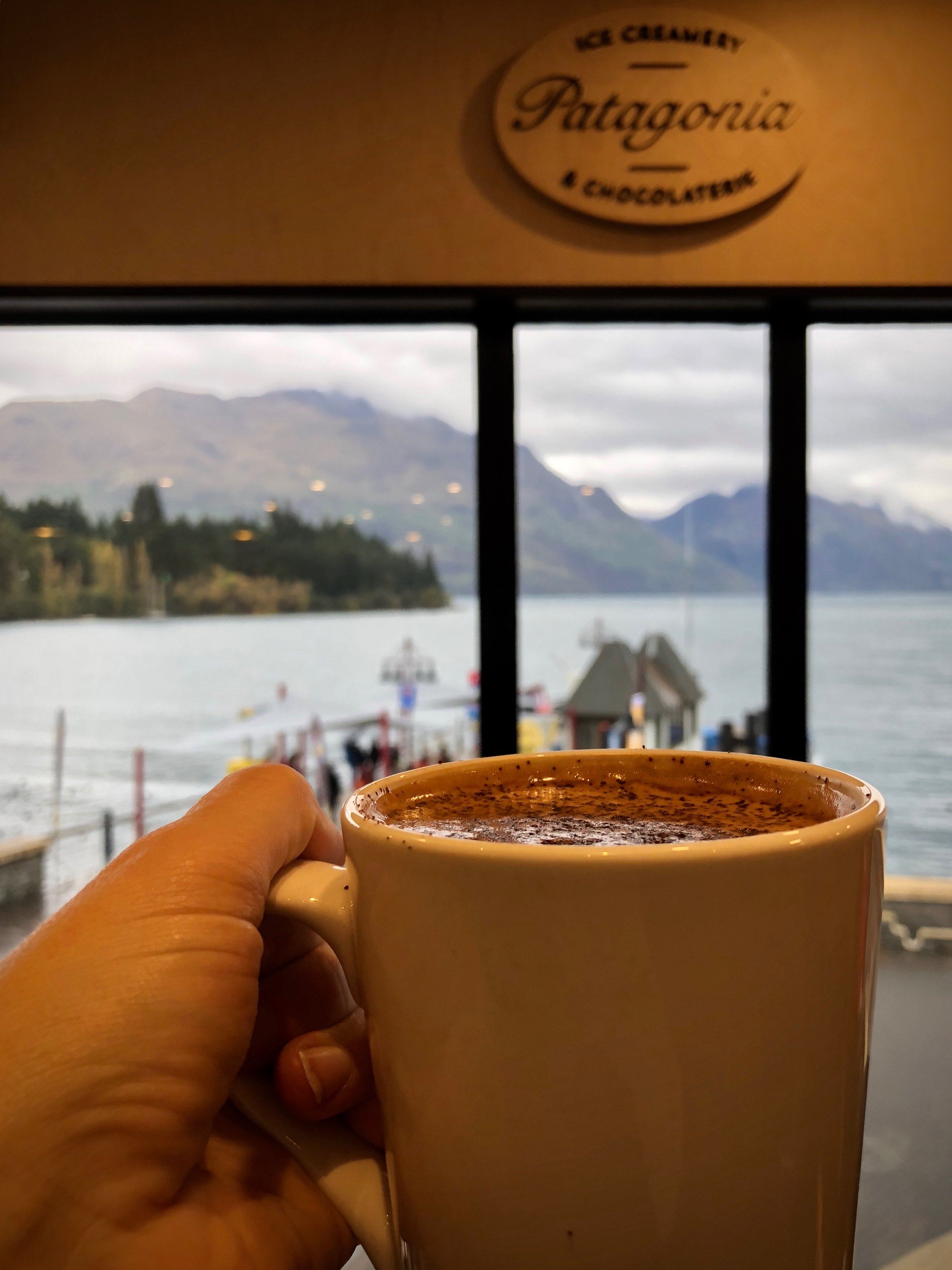 Coffee at Patagonia in Queenstown.