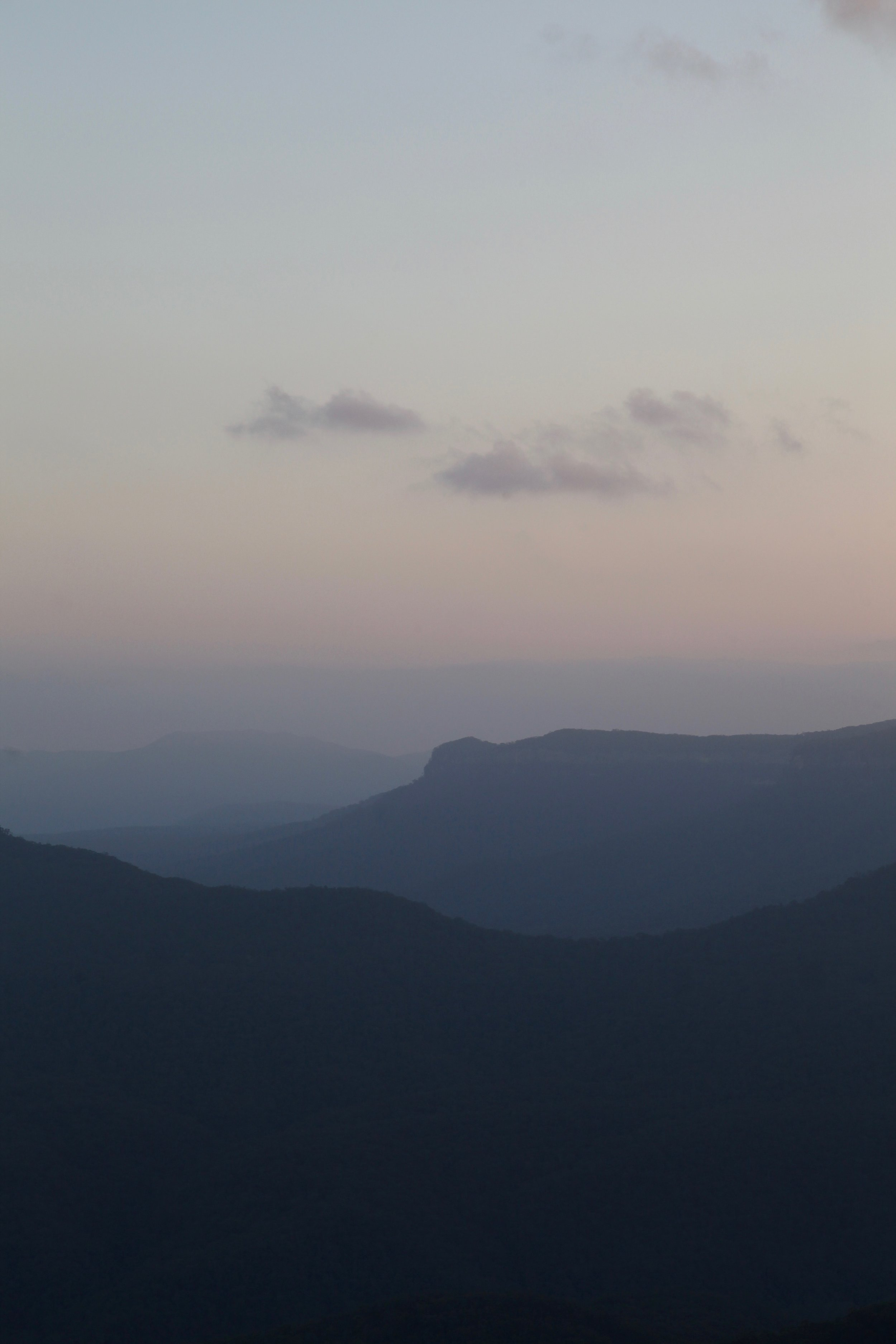 Sunset views across the Blue Mountains National Park.