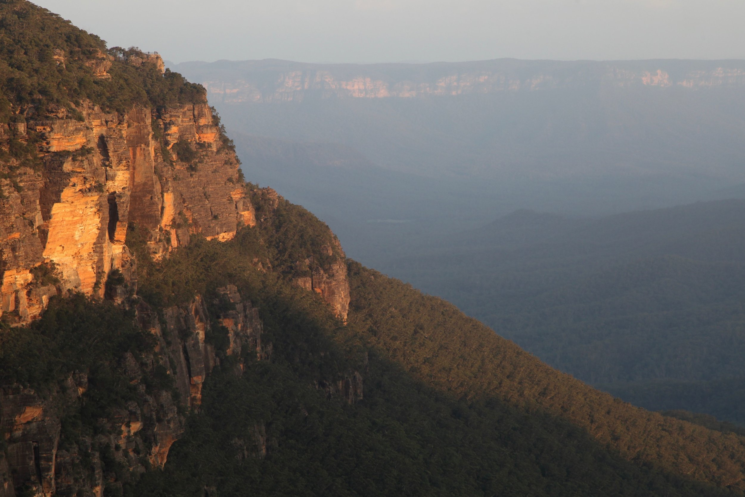 Take in sunset from one of the lookouts at Leura in the Blue Mountains.