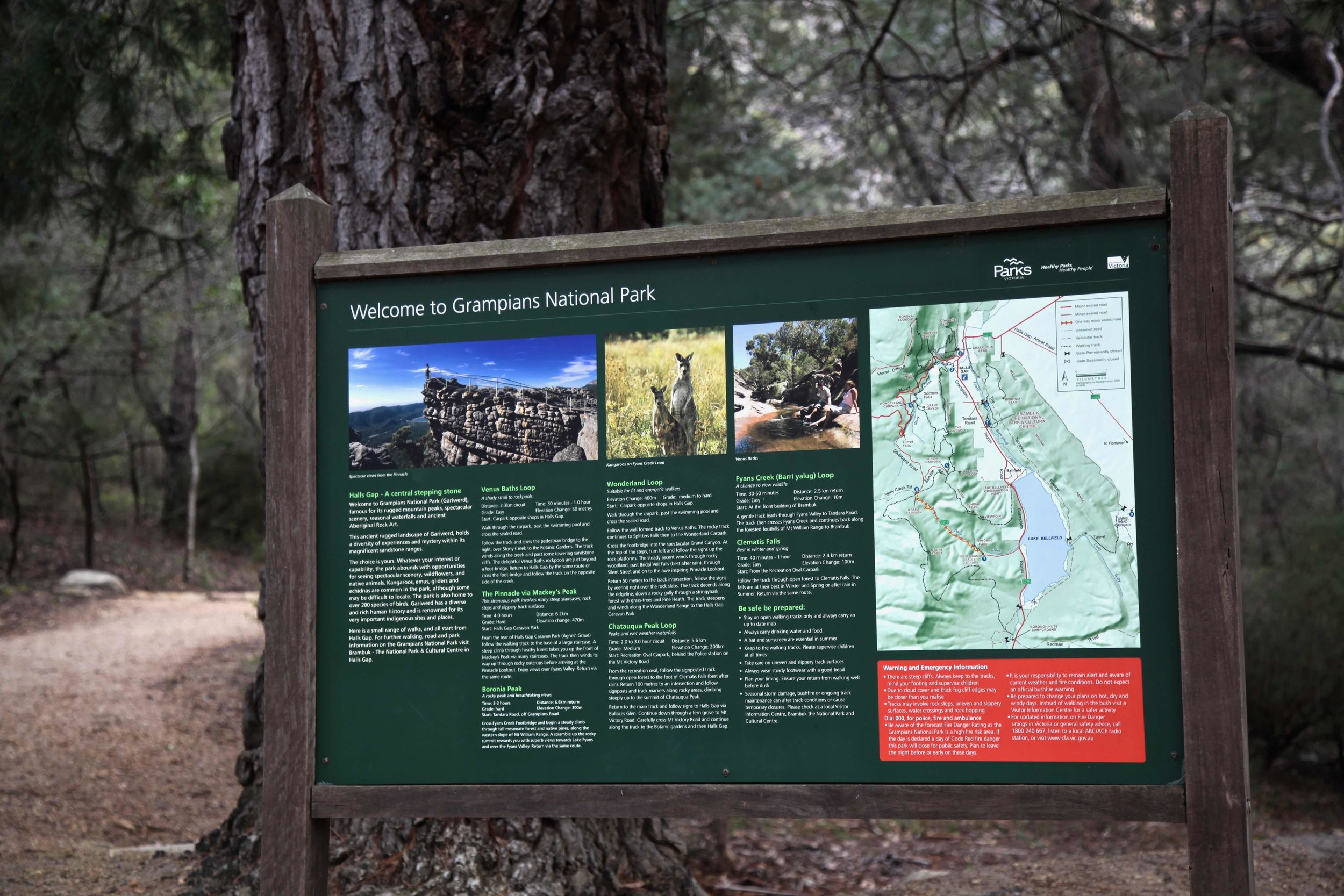 The Grampians National Park is located in Victoria.