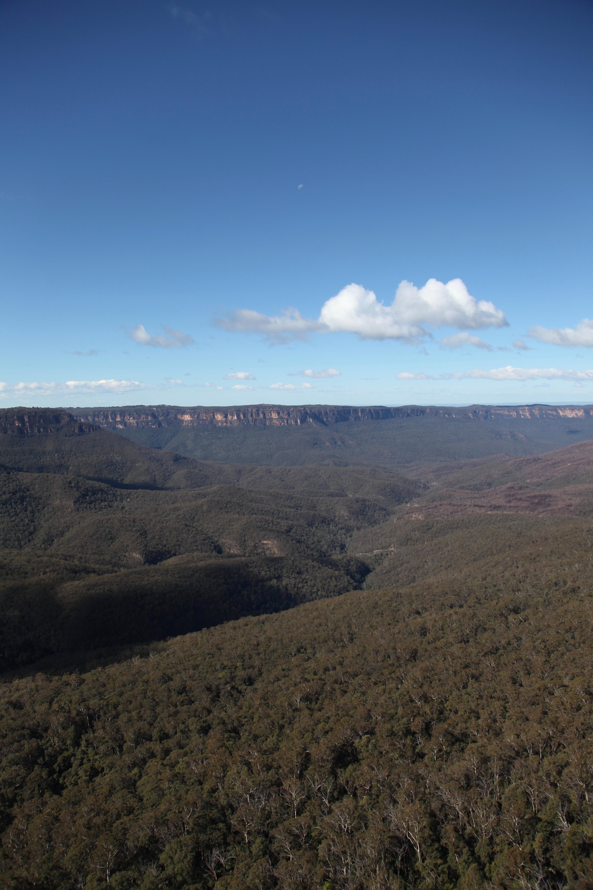 The Jamison Valley at Katoomba in the Blue Mountains.
