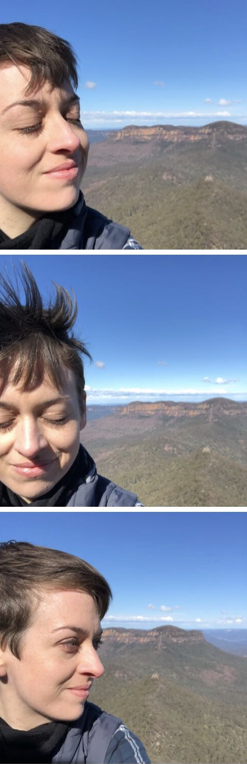My hair: a testament to the wild and windy walk
