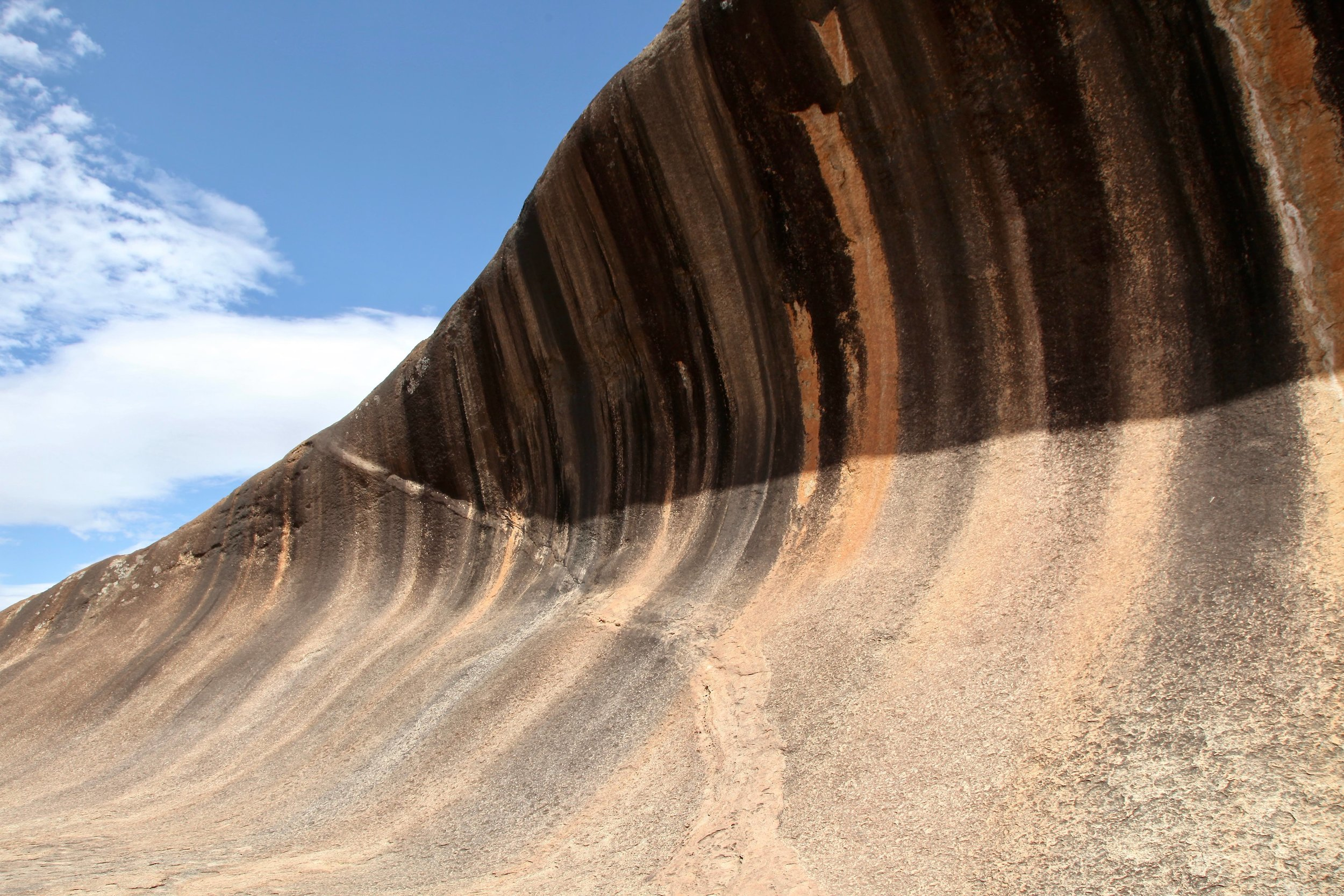 Wave Rock is a granite outcrop shaped by water, it is 15m high and 110m long.