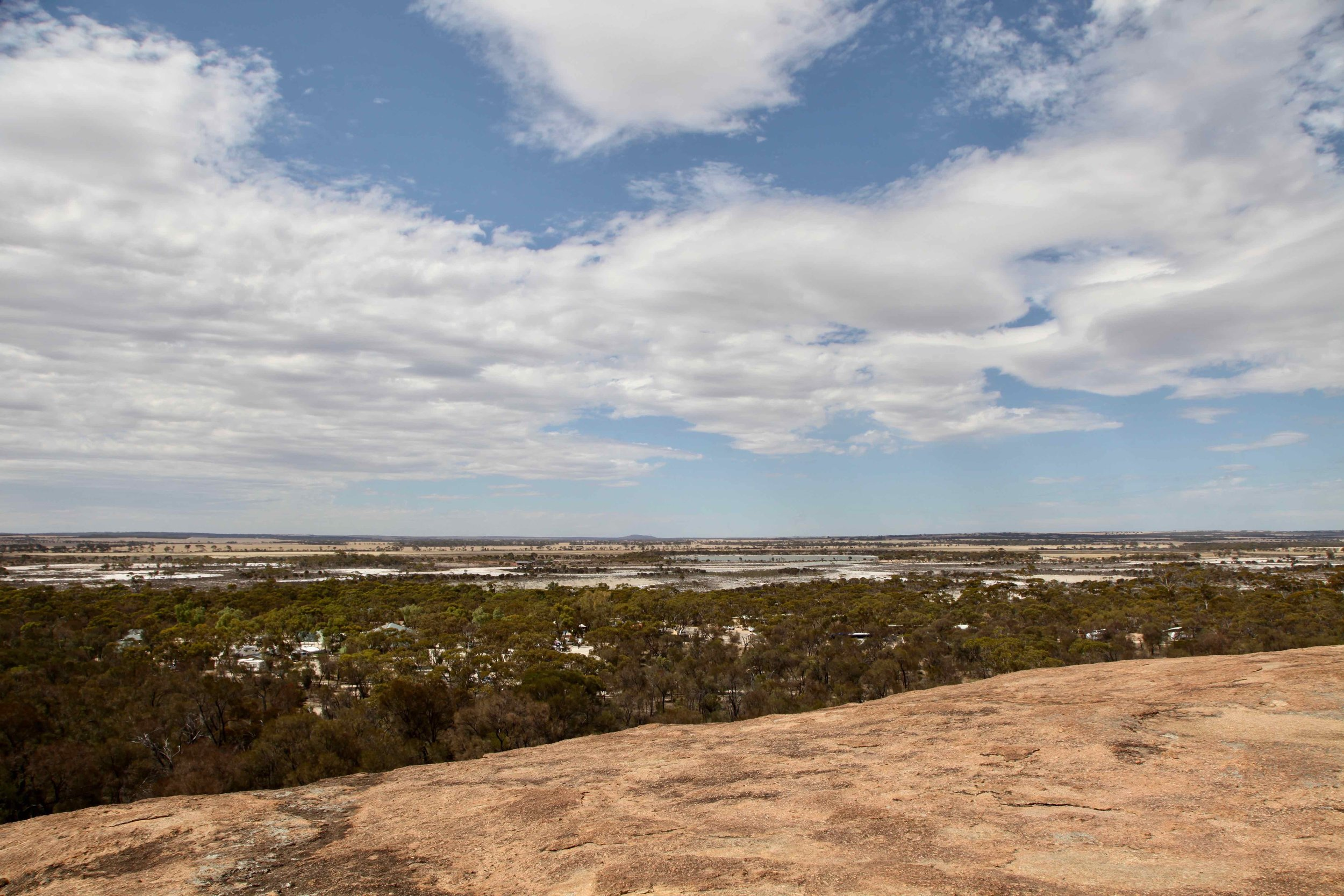 The view from Hyden Rock in Western Australia.